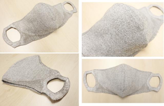100回洗える夏マスク/hamonAGマスク(1層/銀抗菌糸編み込みタイプ/色 グレー)